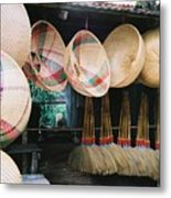Brooms And Baskets Metal Print