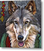 Brother Wolf Metal Print