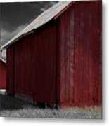Brothers In Red Metal Print