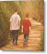 Brothers Into The Woods Metal Print