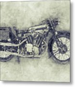 Brough Superior Ss100 - 1924 - Motorcycle Poster 1 - Automotive Art Metal Print