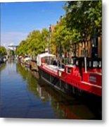 Brouwersgracht Canal In Amsterdam. Netherlands. Europe Metal Print
