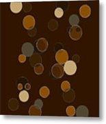 Brown Abstract Metal Print