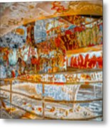 Brown And Red Grafitti In The Ramp Metal Print