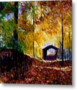 Brown County Covered Bridge Metal Print