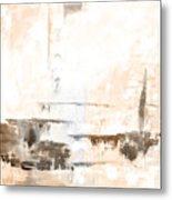 Brown Gray Abstract 12m4 Metal Print
