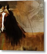 Brown Horse Pose Metal Print