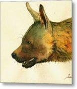 Brown Hyena Metal Print