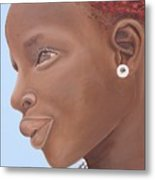 Brown Introspection Metal Print by Kaaria Mucherera
