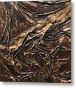 Brown Lace Metal Print