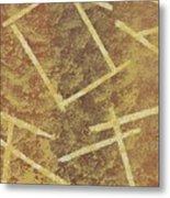 Brown Layers Metal Print