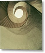 Brown Spiral Stairs Metal Print