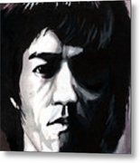 Bruce Lee Portrait Metal Print