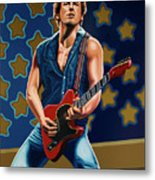 Bruce Springsteen The Boss Painting Metal Print