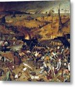 Bruegel: Triumph Of Death Metal Print