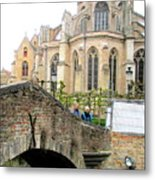 Bruges Bridge 3 Metal Print