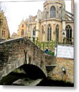 Bruges Bridge 4 Metal Print