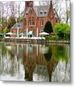 Bruges Kasteel Minnewater Metal Print