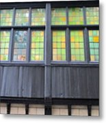 Bruges Window 4 Metal Print