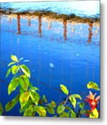 Brunswick Maine Walking Bridge Metal Print