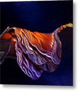 Brused Hibiscus Metal Print