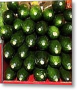 Brussel Sprouts , Cucumbers And Carrots Metal Print