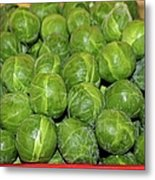 Brussel Sprouts Metal Print