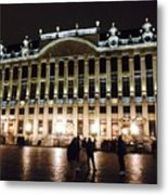 Brussels Lights At Plaza Metal Print