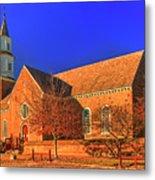 Bruton Parish Church In The Warm Autumn Afternoon Sunlight 6477tmt Metal Print