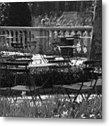 Bryant Park In Black And White Metal Print