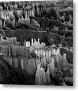 Bryce Canyon In Black And White Metal Print