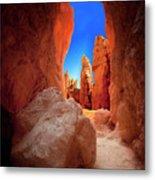 Bryce Canyon Narrows Metal Print