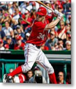 Bryce Harper Washington Nationals Metal Print