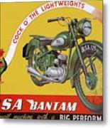 Bsa Bantam Motorcycle Metal Print