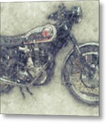 Bsa Gold Star 1 - 1938 - Motorcycle Poster - Automotive Art Metal Print