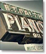 B.t.faith Pianos Metal Print