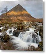 Buachaille Etive Waterfalls Metal Print