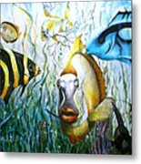 Bubba Fish And Friends Metal Print