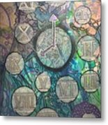 Bubble Clock Metal Print