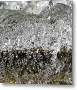 Bubble Falls Metal Print