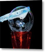 Bubble In A Glass Metal Print