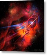 Bubble Nebula Metal Print