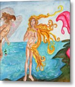 Bubblegum Angel And The Birth Of Venus Metal Print