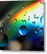 Bubbles Abstract Metal Print