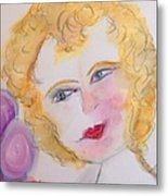 Bubbles At Her Party Metal Print