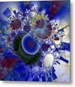 Bubbles Concentrated Metal Print