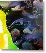 Bubbles Of Life Metal Print