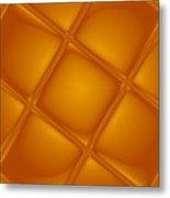 Bubbling Amber Metal Print