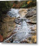 Bubbling Spring Branch Cascades Metal Print