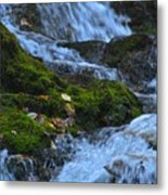 Bubbling Waterfall Metal Print